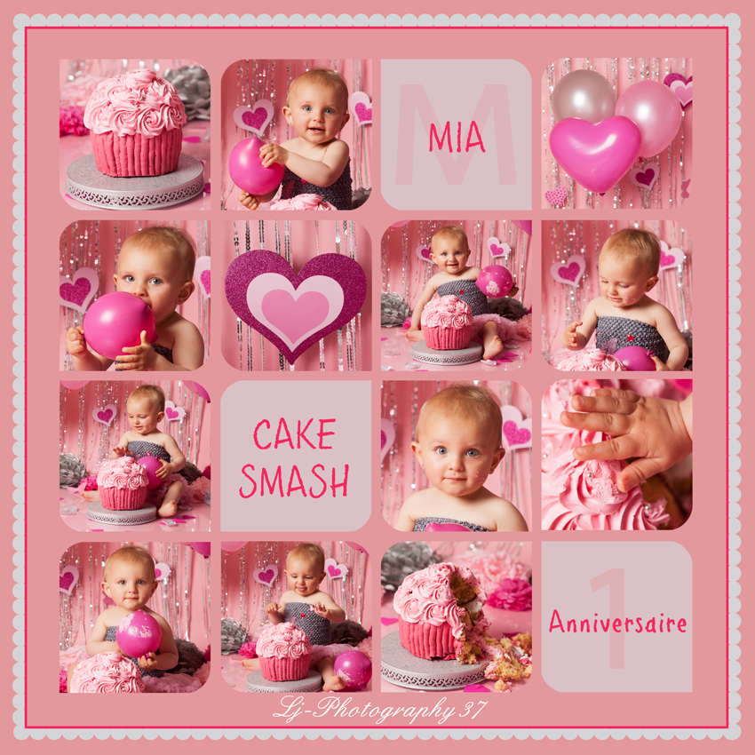 smash the cake : Mia